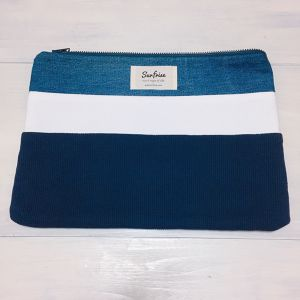 Denim clutch bag R21(Navy)