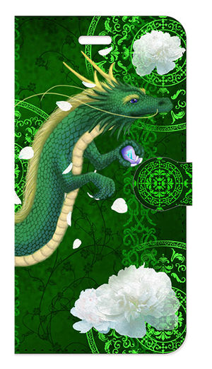 【iPhone6Plus/6sPlus】弁財天龍神 Divine Dragon of Benzaiten 手帳型スマホケース