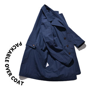 Packable over coat [Navy]