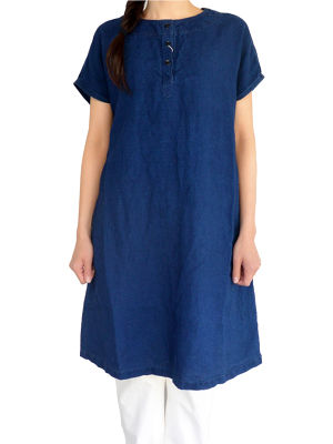 orslow オアスロウ ONE-PIECE DRESS INDIGO LINEN