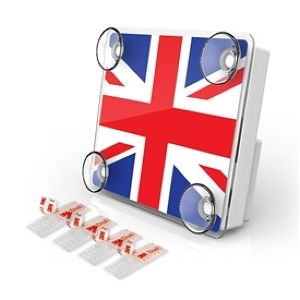 LARGE Toll pass Transponder Holder UNIONJACK