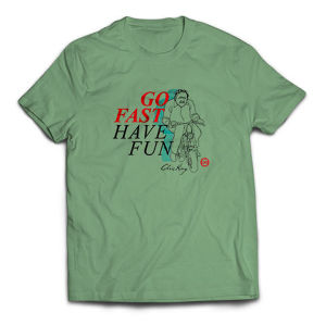 Chris King Go Fast, Have Fun T-shirts, Avocado