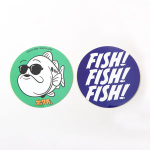 FISH! & OokuchiKUN CIRCLE STICKKER SET 70mm