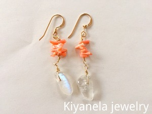 Pink coral and Crystal