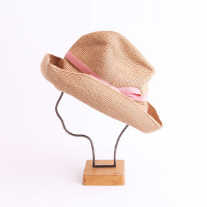 mature ha./BOXED HAT 101 mixbrown×pink