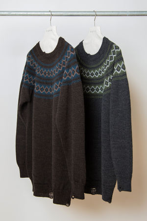 TO-AW16-KT04 NORDIC OVER SWEATER
