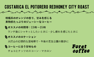 【粉300g】 トップスペシャルティ CostaRica El Potorero RedHoney City Roast
