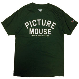 PICTURE MOUSE■not imitation Tsh(DARK GREEN)