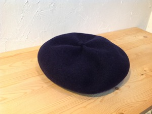"matureha. ""beret top gather rib Navy"""