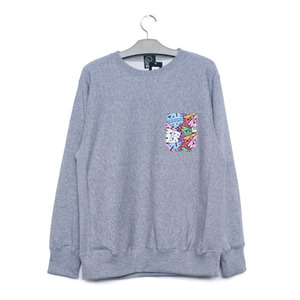 RAZZLE / UGM POCKET CREW NECK / GREY