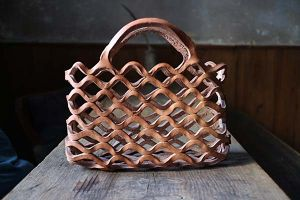 Ko Soda  Leather Basket Square(ラスカバン)