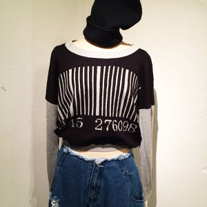 Barcode Short Knit / Gray