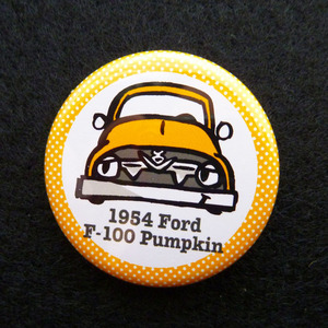 1954 Ford F-100 Pumpkin 缶バッジ