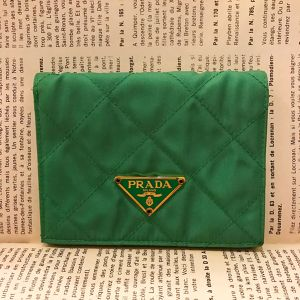 PRADA nylon × leather wallet