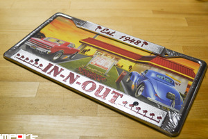 IN-N-OUT Burger Licence plate frames