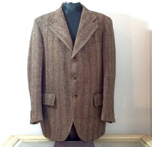 1970s vintage HarrisTweed Tailored collar jacket