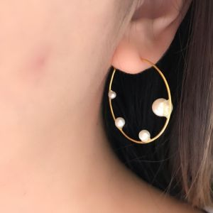 hoop pearl pierce