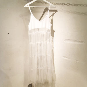 Tulle Slip Dress / White