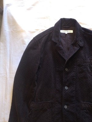 BURN OUT POLKA DOTS CORDUROY 3B WORK JACKET(VOTOLE PRODUCT)