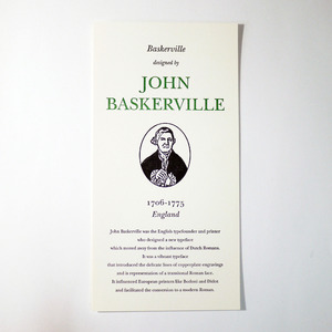 GREAT TYPE DESIGNERS SERIES JOHN BASKERVILLE