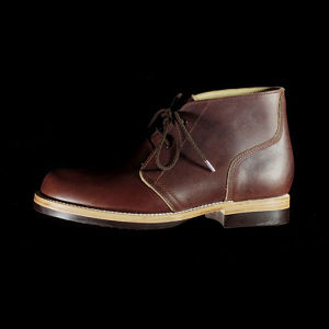U.S. OIL LEATHER CHUKKA BOOTS D.BROWN