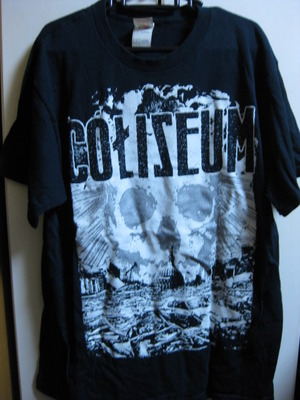COLISEUM black T-SHIRT [L] USED