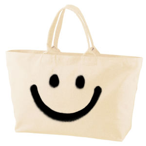 RAKUGAKI BIG SMILE Tote Bag White