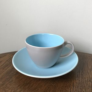 Poole Pottery Twintone Demitasse Cup