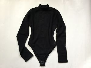 "MAISON EUREKA "" STRETCH THERMAL HIGH NECK BODY SUIT "" BLACK"