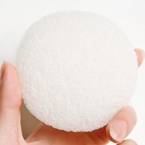 2016 1pcs Facial Puff Sponge Cleanser Puff Natural Konjac  Konnyaku Facial Puff Face Wash Cleansing Sponge White 7*7*4cm