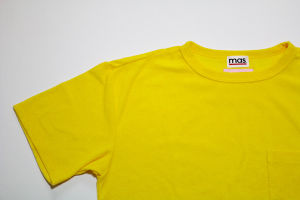 mas.×EACHTIME. PILE T-SHIRT Lemon yellow