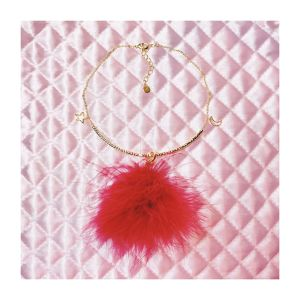 swan choker (red/black)