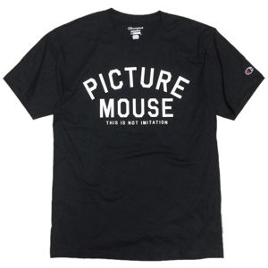 PICTURE MOUSE■not imitation Tsh(BLACK)