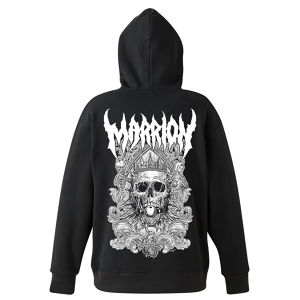 【裏起毛】DEATH MARRION~Pullover Hoodie (Black×White)