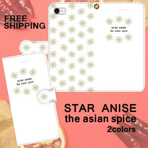 STAR ANISE the asian spice ホワイト 手帳型スマホケース iPhone Android