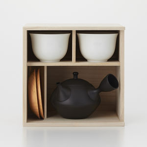Japanese Teapot & Cup set(type : Diamond) / 菱形急須 + 湯のみ セット