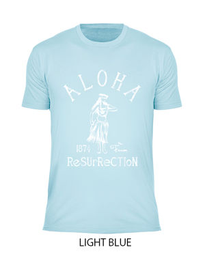 [MAN] ALOHA RESURRECTION TEE -LIGHT BLUE-