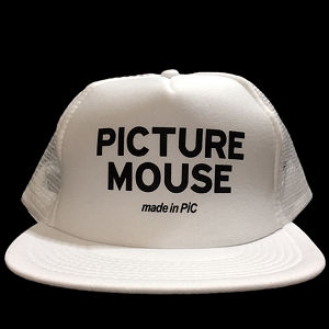 PICTURE MOUSE■メッシュキャップ(WHITE)