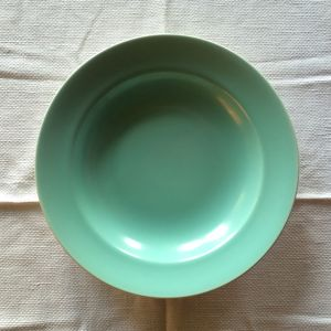 POOLE POTTERY Twintone Ice Green Salad Plate