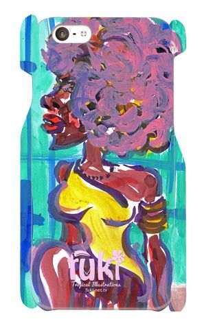 """iPhone6 ケース """"Afro doll"""""""