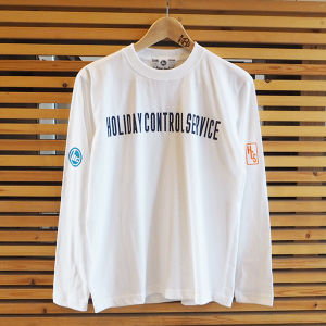 -HOLIDAY CONTROL SERVICE- L/S TEE WHITE