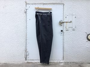 "MAISON EUREKA "" ViNTAGE REWORK BIGGY PANTS BLACK "" D"