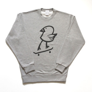 BLIND KILLY BIRD CREW NECK SWEAT(Gray)