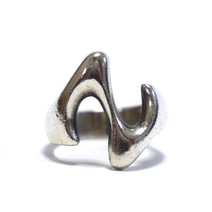 Vintage Sterling Silver Mexican Modern Zig Zag Ring