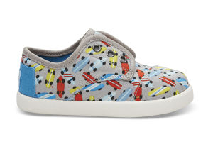 TOMS DRIZZLE GREY SKATEBOARDS TINY PASEOS