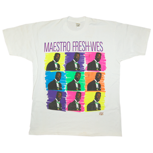 """Maestro Fresh Wes / Drop The Needle"" Vintage Rap Tee Deadstock"