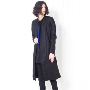 COTTON LINEN LONG COAT