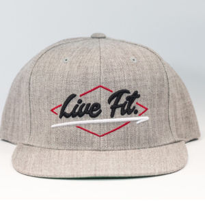 LIVE FIT ELECTRIC Snapback- Grey/Black/Red