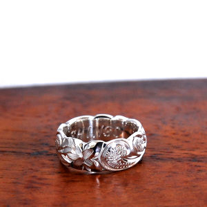Hawaiian Jewelry Silver 925 6mm幅RING