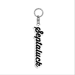 Basic Logo Rubber Key -White-